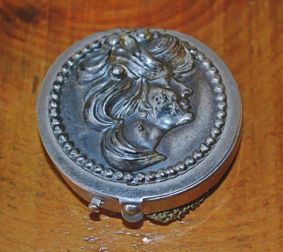 Antique Change Purse Gibson Girl Mesh Coin Purse