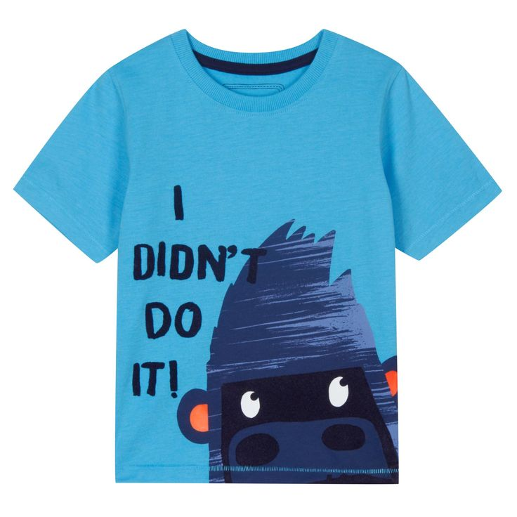 bluezoo Boy's blue gorilla print t-shirt