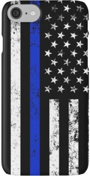 Police Styled Distressed Vertical American Flag iPhone 7 Cases