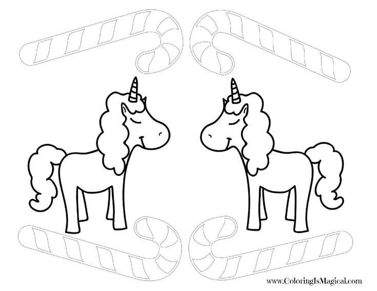 Christmas Unicorns   Christmas unicorn, Unicorn coloring ...