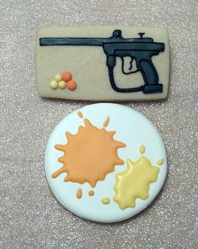 Paintball Cookies