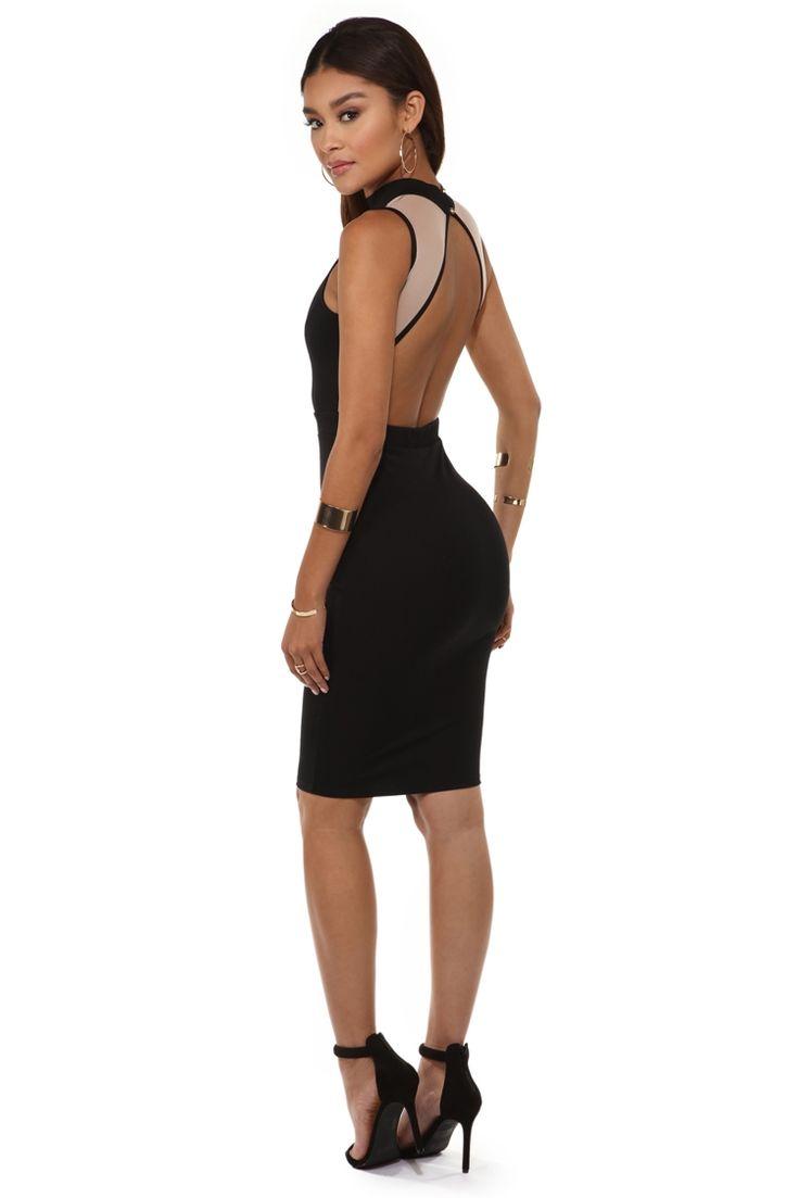 Final Sale- Black Illusion V Club Dress