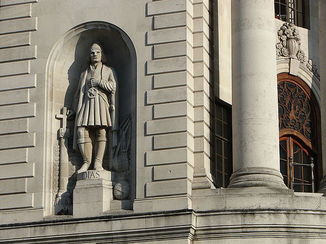 Statue of Bartolomeu Dias at the High Commission of South Africa in London