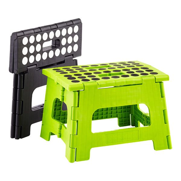 Black Easy Folding Step Stool Container Store Storage