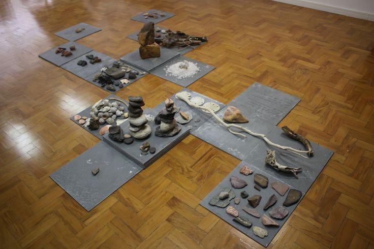 Renata de Bonis Untitled, 2015 Collected rocks, shells Dimensions variable