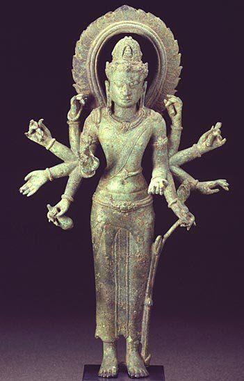 Bronze sculpture Avalokiteśvara : Central java Art