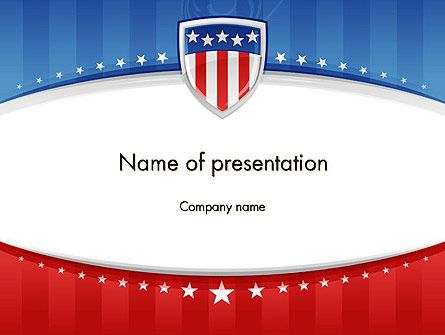 Solemn and festive patriotic background for presentations on national festivals, patriotic themes, and American history. For 4th of July, for National Flag Day, for Veterans Day we recommend to use this template.