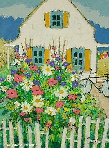 Claudette Castonguay, 'Rendez-vous vers midi', 12'' x 16'' | Galerie d'art - Au P'tit Bonheur - Art Gallery