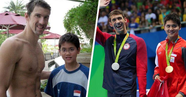 Joseph Schooling hizo historia al conseguir la primer medalla olímpica para Singapur, pero no solo eso además le arrebató la gloria a su ídolo: Michael Phelps.