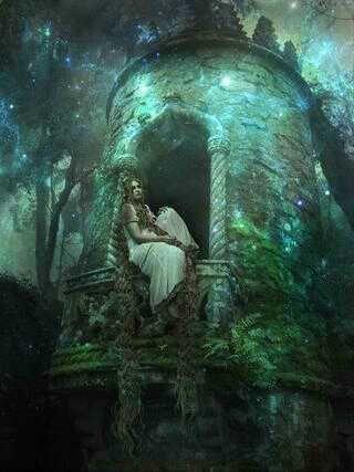 Rapunzel? Old Moss Woman's Garden on FB