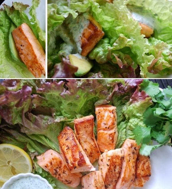 Salmon with cilantro mint cream sounds delish