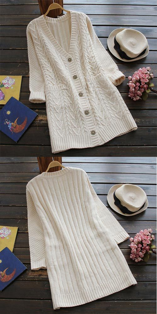 10% Off for Pre-order That's it. Go wherever the wind takes you in the Full Exposure Twist Long Sweater Cardigan. Keep it simple this season with its twist pattern and lovely pockets at sides. Show off now!