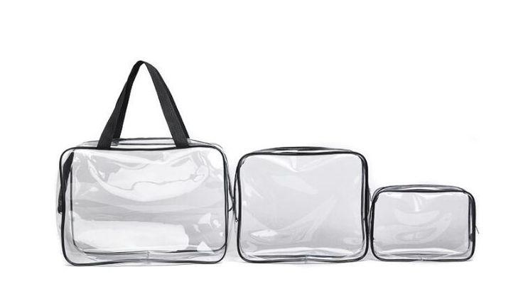 Custom PVC cosmetic make up bag Clear Plastic Vinyl Pouch