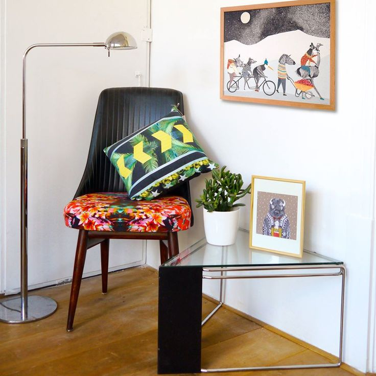 Unique interior items! Come to discover them! Chair and cushion cover by Joostjanszen www.uhmah.com