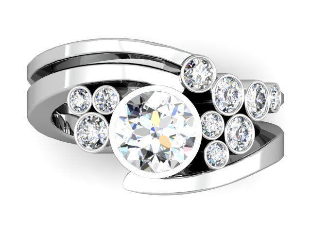 unique bezel diamond ring | Motek Diamonds | Custom Diamond Rings | Dallas Loose Diamonds ...
