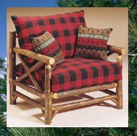 Buffalo plaid chair