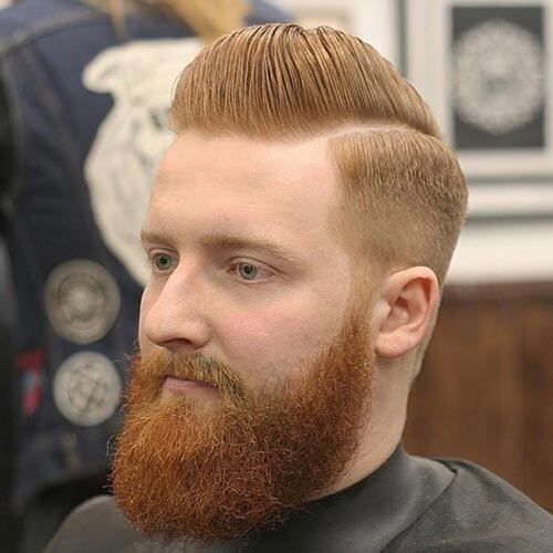 Classic Pompadour and Comb Over - Pompadour Fade Haircut