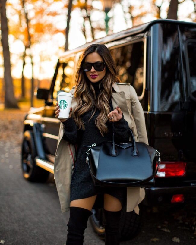 fa7d99e28366 fashion blogger mia mia mine wearing a burberry trench coat and a givenchy  antigona bag