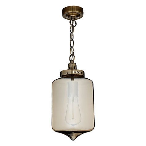 Buy John Lewis Christophe Smoked Lantern Pendant Online at johnlewis.com For hall outside cloakroom? Would match Moroccan lamp in hall. £75.