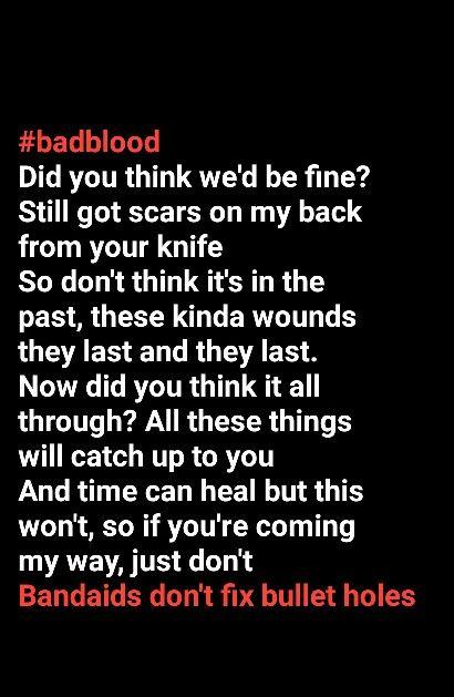 #badblood Taylor swift lyrics quotes bad blood