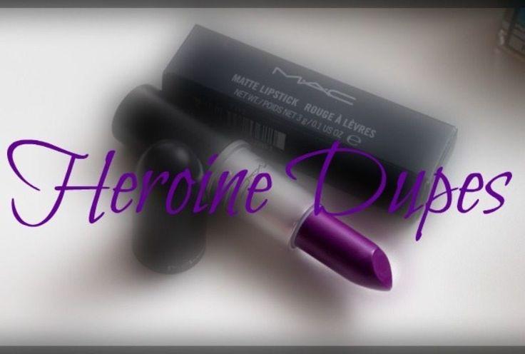 The MAC Heroine Dupes  <3 http://www.glossypolish.com/the-mac-heroine-dupes/ #MAC #heroine lipstick dupes !! <3 #purple #violet