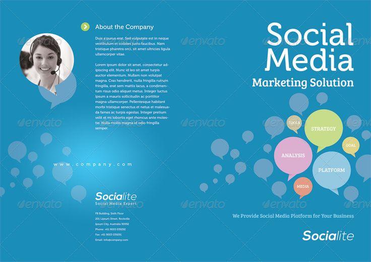 Social Media Half-fold and Tri-fold Brochures | GraphicRiver