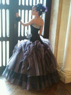 My beautiful daughter in her emo inspired dress