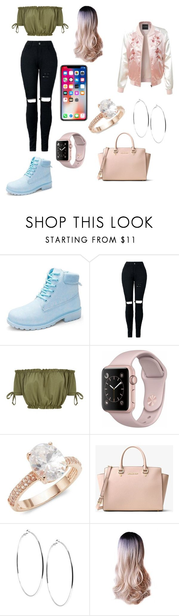 """Queen"" by alayanaomigos on Polyvore featuring Saks Fifth Avenue, MICHAEL Michael Kors, GUESS and LE3NO"