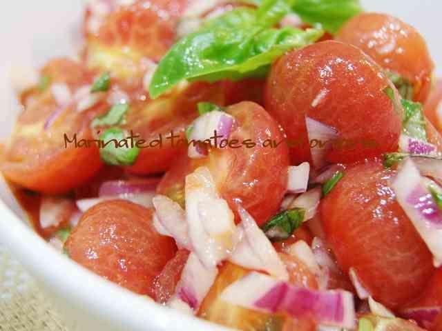 トマトと玉ねぎのマリネサラダの画像