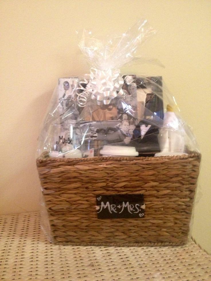best homemade bridal shower gifts%0A   Mr  and Mrs    DIY Bridal   Bachelorette Gift Basket