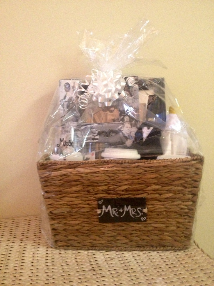... wedding gift basket on Pinterest Picnics, Wedding gift wrapping and