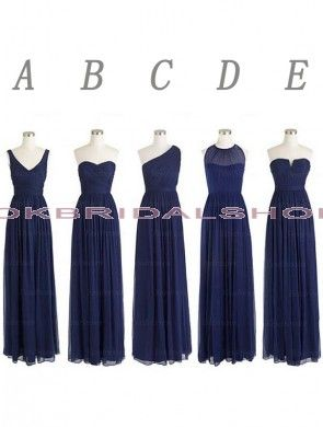 navy blue bridesmaid dresses, long bridesmaid dresses, chiffon bridesmaid dresses, mismatched bridesmaid dress, cheap bridesmaid dresses, custom bridesmaid dresses