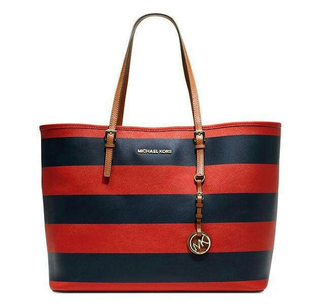 NEW : MICHAEL KORS travel red navy - 3.15mio