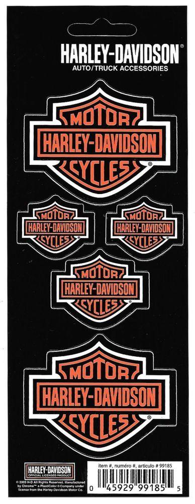 Harley Davidson Decal Sticker Sheet of 5 Logos New Window Toolbox Laptop    Collectibles, Transportation, Motorcycles   eBay!