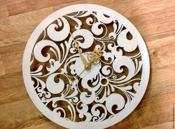 """Купить Настенные часы """"Кудряшки"""" - белый, настенные часы, настенное панно, настенный декор"""
