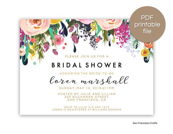bridal shower invitation instant download printable bridal shower invite floral pink ashley collection editable pdf template