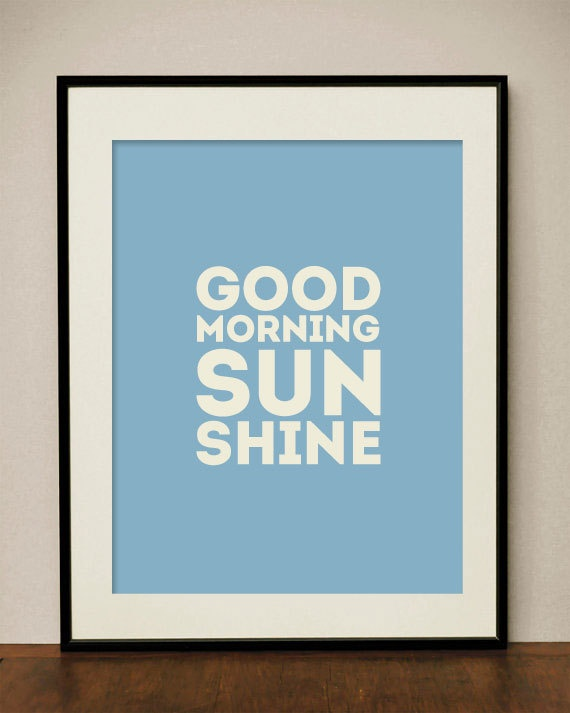 Good Morning Sunshine digital Art Print  8x10 by classicology, $15.00