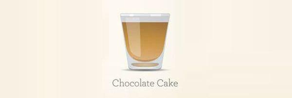 20ml de vodka à la vanille 15ml de liqueur au chocolat Godiva 15ml Frangelico