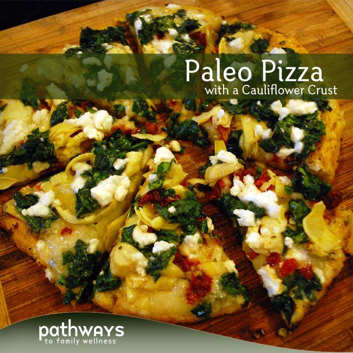 Paleo Pizza (With Cauliflower Crust!)