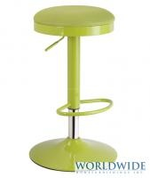 TURF GAS LIFT STOOL in LIME - swivel, adjustable height, also available in red, black and grey