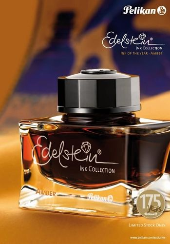 """Amber Edelstein Ink is Pelikan's """"ink of the year for 2013"""", limited to one year of production only"""