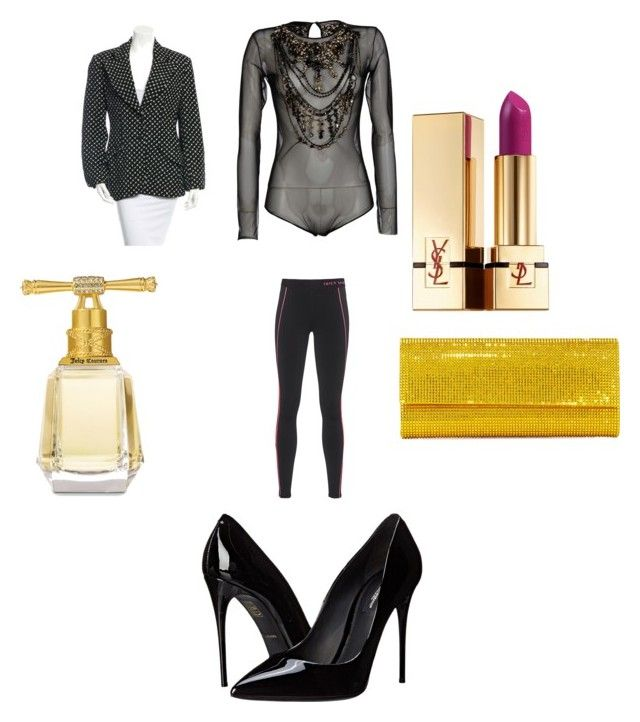 couture by marcia-naftal on Polyvore featuring Moschino, Juicy Couture, Dolce&Gabbana, Judith Leiber, Yves Saint Laurent, women's clothing, women's fashion, women, female and woman