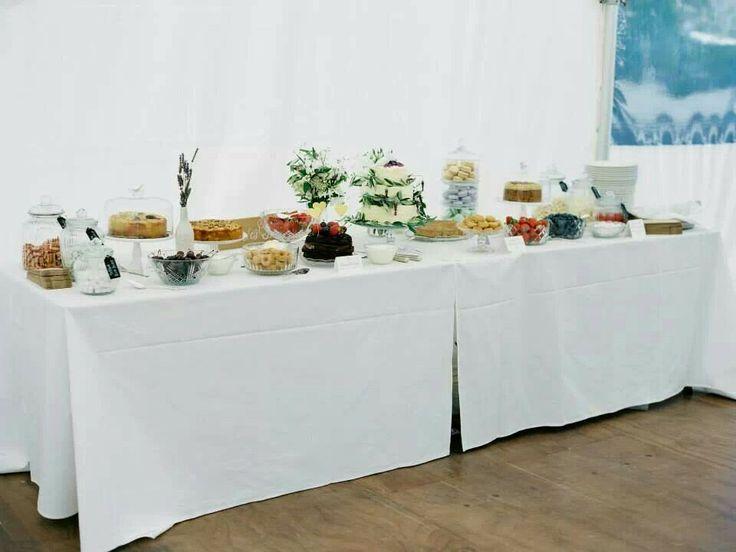 Nonas Homemade Cakes Wedding Cake Table  Photograph by Wildwood