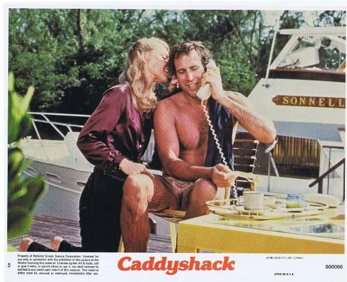 "CADDYSHACK -1980- Original 8x10 Mini Lobby Card #5 - CHEVY CHASE, CINDY MORGAN.  Just listed some great lobby cards in my Ebay store from some awesome movies from the '80's!! Here is one from ""CADDYSHACK"". If interested in buying, just click on the link below."