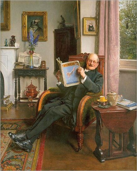 The Laughing Parson, 1935  by Charles Spencelayh  (1865 – 1958):