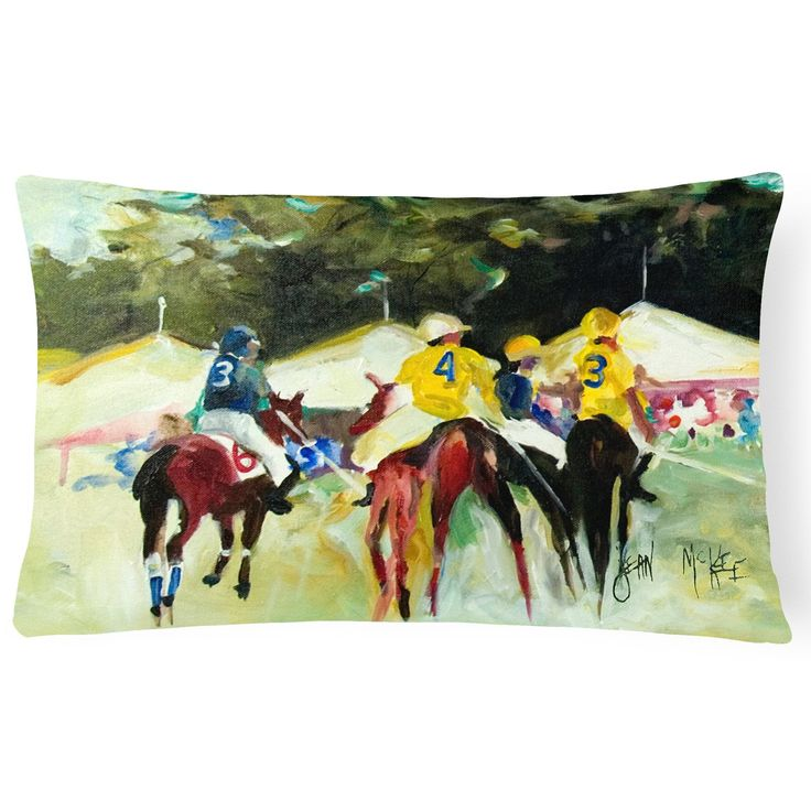 Carolines Treasures Polo at the Point Rectangle Decorative Pillow - JMK1007PW1216