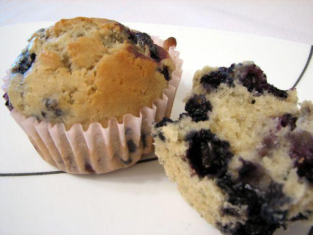 Blueberry muffins   1 1/2 cups flour  1/2 cup sugar  1 teaspoon salt  2 teaspoons baking powder  3/4 cup soymilk  1/4 cup oil  1 cup frozen blueberries