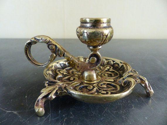 Francese Applique a mano. Annata di candelabro bronzo.