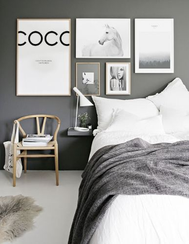 Scandinavian style interiors, Scandinavian living, Scandinavian home decor, wall gallery ideas, gallery wall art inspiration. Bedroom inspiration. Posters and prints. Desenio.com