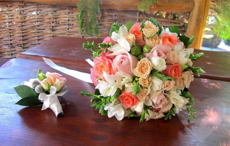 Decorarea pentru nuntă în nuanțele culorii coral- Оформление для свадьбы в коралловых тонах